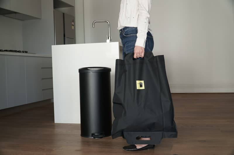 A person holding a bag